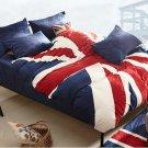 UK Flag Velvet Warm Duvet Quilt Cover Sets Bedding Cover Sets