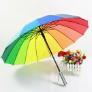 Rainbow Umbrella with Straight Shank Wedding Party Favor