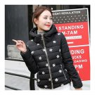 Winter Slim Embroidered Hooded Woman Down Coat   black