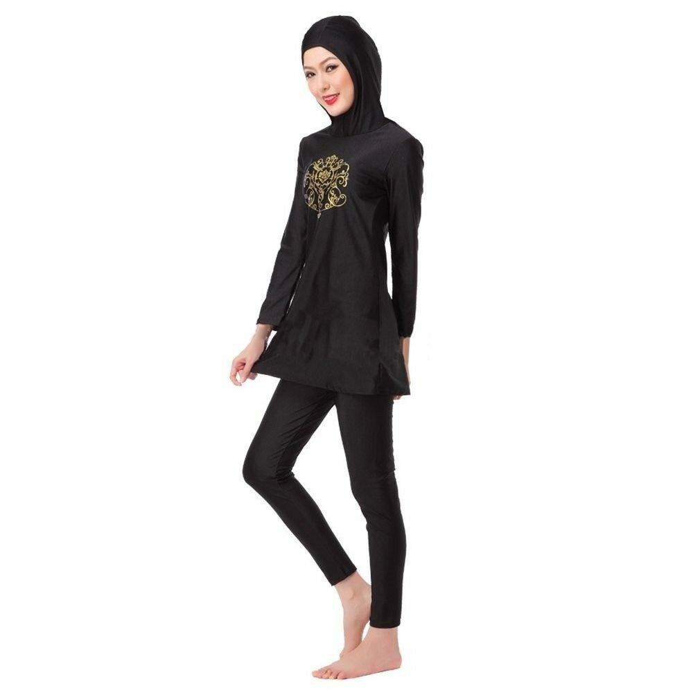 Muslim Swimwear Swimsuit Bathing Suit hw10h   black Burqini