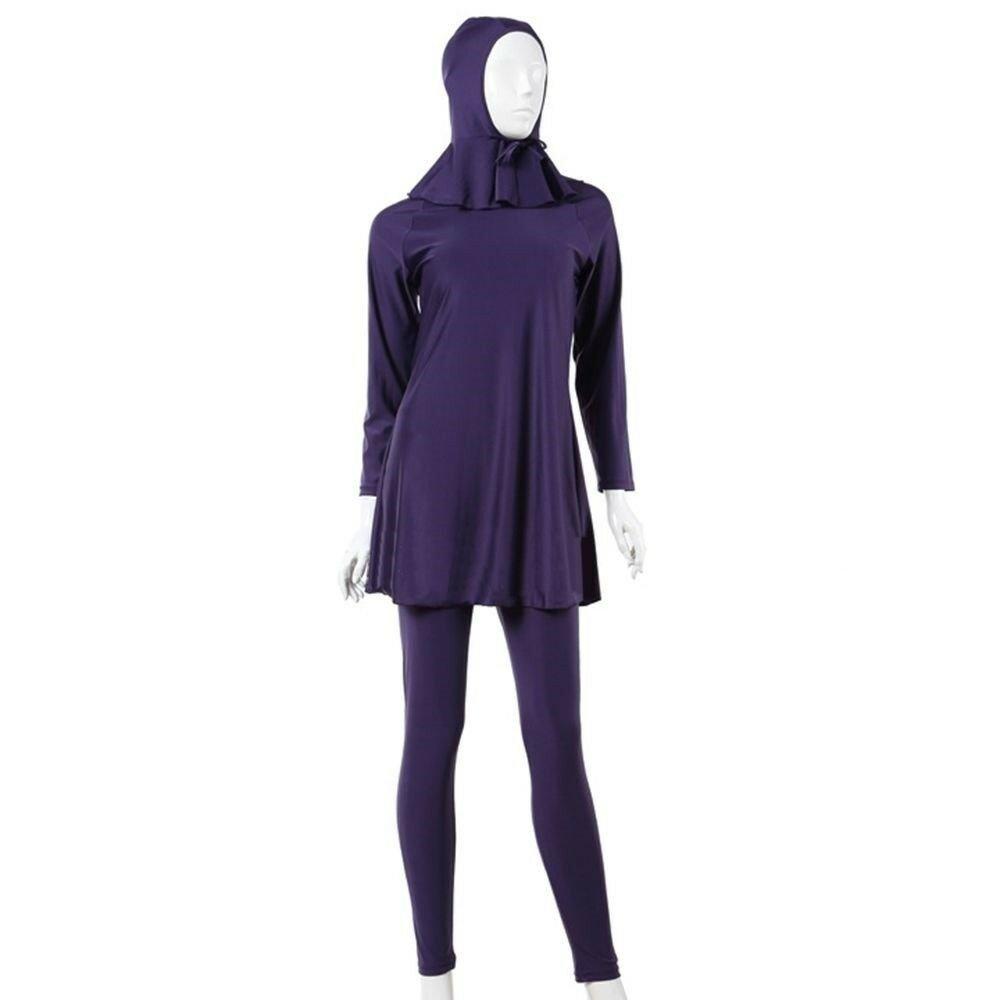 Muslim Swimwear Swimsuit Bathing Suit hw10b   purple Burqini