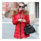 Winter Woman Slim Middle Long Down Coat   red