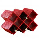 Red Wine Rack Holder Stand Home Europe    red crocodile pattern 8 lattice