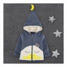 Infant Baby Cartoon Thick Zipper Coat Boy Girl Duck dark blue 73cm