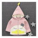 Infant Baby Cartoon Thick Zipper Coat Boy Girl Duck pink 73cm