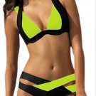 Women Bikini Swimsuit Summer  bandage Style Color patched pattern various color