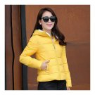 Winter Woman Slim Down Coat Splicing Short Chic   yellow