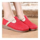 Cowhells Soft Sole Solid Color Flax Shoes Flax   red