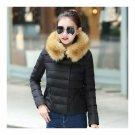 Sount Korean Style Short Down Coat Panda Design Coat   black