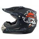 Motorcycle Motor Bike Scooter Safety Helmet dull black skull