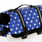 Dog life Jacket Safer Vest Swimming Jacket Flotation Float Jacket blue point
