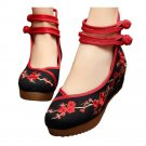 Old Beijing Cloth Shoes Plum Blossom Increased within   black