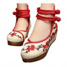 Old Beijing Cloth Shoes Plum Blossom Increased within   red
