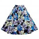 Hepburn Style Vintage Bubble Skirt A-line Pleated Skirt   blue