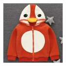 Infant Baby Boy Girl Penguin Cartoon Zipper Coat orange 73cm