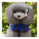 Pet Dog Cotton Coat Checks Pattern   blue