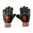 Professional Goalkeeper Gloves Roll Finger Non-slip   black  child 6#