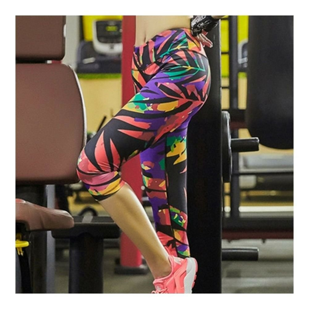 Sports Yoga Fitness Ninth Trousers Printing Dry Fasteventh trousers
