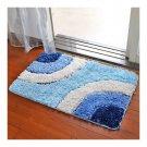 Irregular Color Door Ground Non-slip Mat Carpet    blue irregular  60*90cm