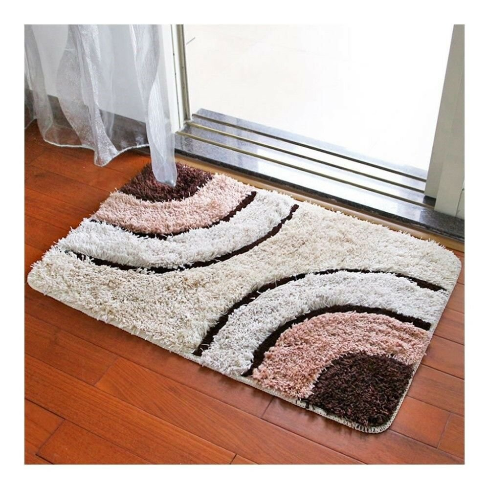 Irregular Color Door Ground Non-slip Mat Carpet   coffee irregular   60*90cm