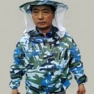 Camouflage Beekeeping Clothing Uniform Veil Equipment-Blue