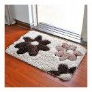Flowers Non-slip Door Ground Mat Carpet   cofee   45*65cm