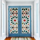 New 3D DIY PVC Waterproof  Door Wall Sticker Kaleidoscope qd015