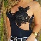 Explosion Models Lace Straps Wrapped Chest Irregular Stitching Gauze Shirt