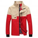 Slim Man Cloth Jacket Coat Motley Pocket Business   red