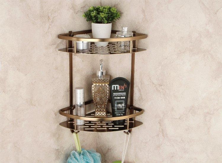 Antique bathroom accessories Comestic bathing item Corner triangle Holder Rack