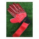 Latex Goalkeeper Gloves Roll Finger   red  8