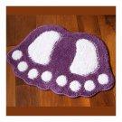 Cute Flocked Foot Door Non-slip Mat   purple   48*67cm