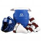 Taekwondo Protective Gear 5pcs Set Thick For Tournament blue female S