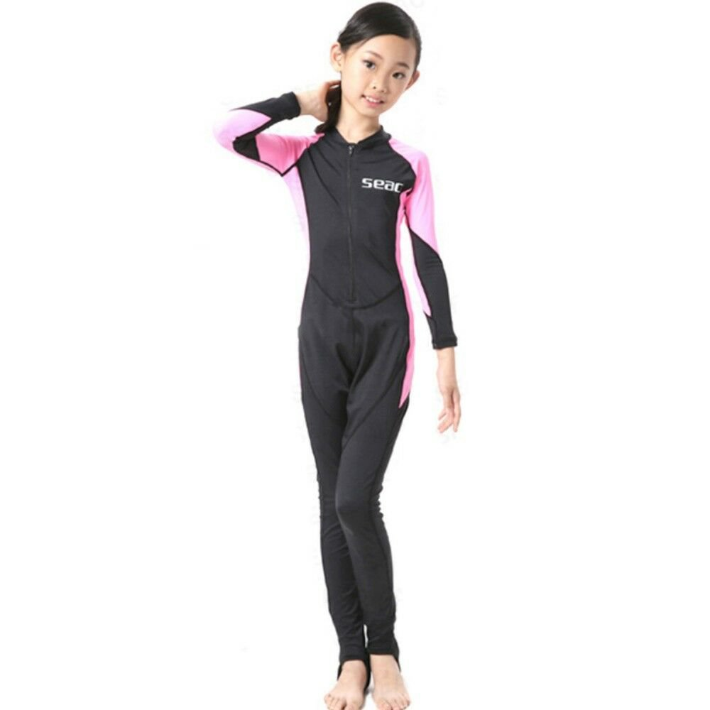 S023 S024 S025 S026 Child One-piece Diving Suit 2.5mm Surfing Wetsuit   girl unh