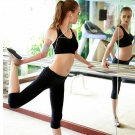 Women Yoga Running Elastic Sport Pants Leggings Fitness Trouser Capri Trousers
