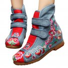 Flowers Vintage Beijing Cloth Shoes Embroidered Boots jeans 35