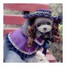 Dog Pet Clothes Cloak Wig Hat Suit   PF06 rose red dot