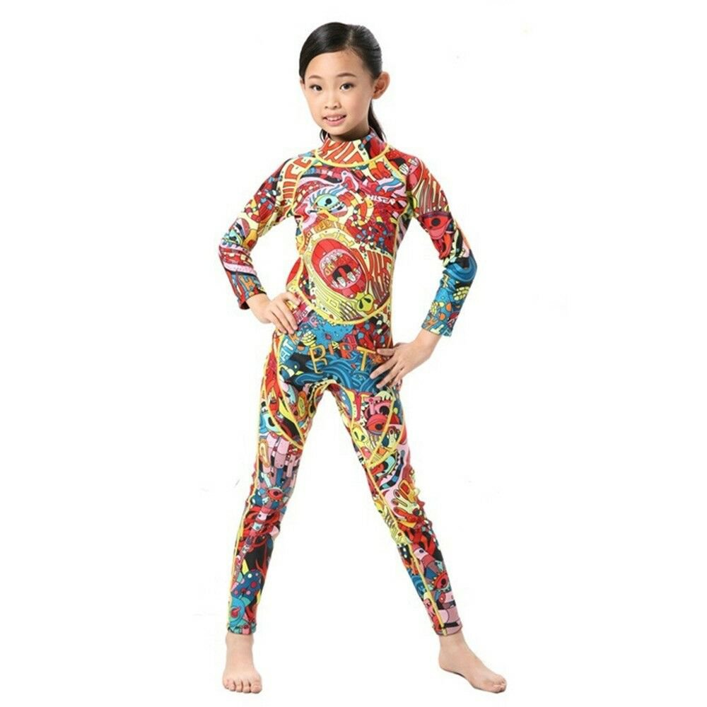 S053 M012 Child One-piece Diving Suit 2.5mm Surfing Wetsuit   0.5mm   4
