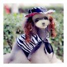 Dog Pet Clothes Cloak Wig Hat Suit   PF13 zebra print
