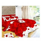 3D Flower Bed Quilt/Duvet Sheet Cover 4PC Set Cotton Sanded 021