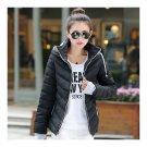 Winter Woman Hoodied Short Plus Size Down Coat   black