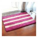 Chenille Ground Foot Non-slip Mat   charming purple purplish red  50*80cm