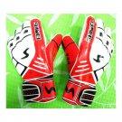 Thick Latex Goalkeeper Gloves Roll Finger   red