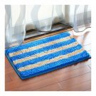 Chenille Ground Foot Non-slip Mat   Miland holiday blue  50*80cm