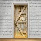 New 3D DIY PVC Waterproof  Door Wall Sticker Wooden Door qd020