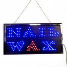Nail Wax LED Neon Light Open Sign Twinkling Sparking lights for Salon 110V