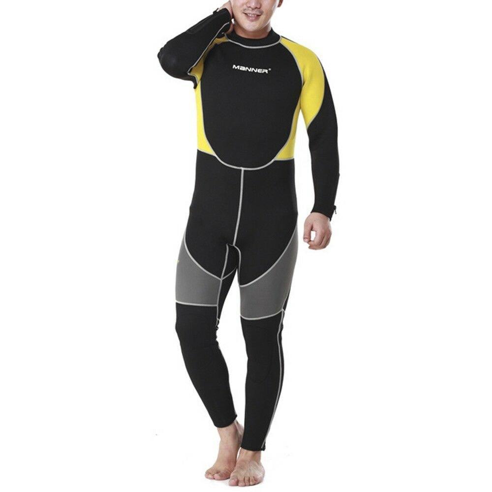 3mm Man Long Sleeve Wet Type Diving Suit Wetsuit S