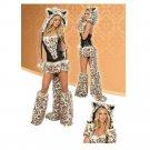 Halloween Leopard Print Big Tail Wolf Costume