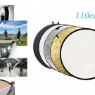 "5 in 1 Collapsible 110cm 43"" Light Flash Studio Reflector Round Diffuser"