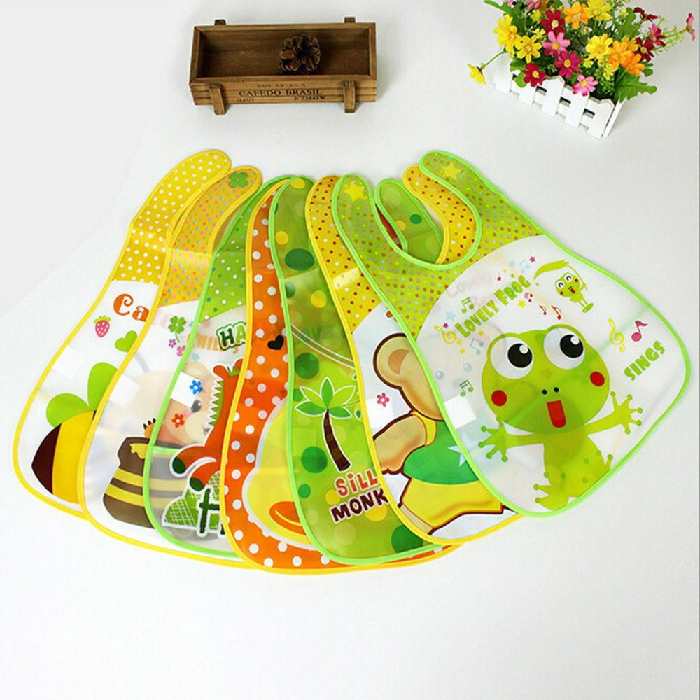 Cute Cartoon Comfortable Bib Feeding Bibs Baby Bibs Saliva Towel Waterproof bee